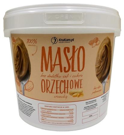 Masło Orzechowe Crunchy z kawałkami orzechów 100% wiadro 5kg